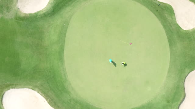 aerial view of country club - golf stock videos & royalty-free footage