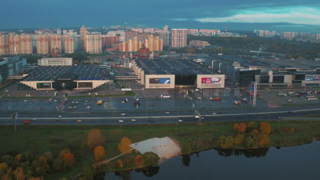 Aerial view of Crocus City on MKAD