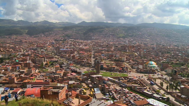 aerial view of cusco city, cusco, peru - avenida stock videos & royalty-free footage