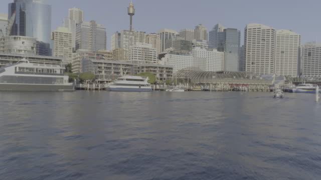 Aerial view of Darling Harbour. Sydney Australia