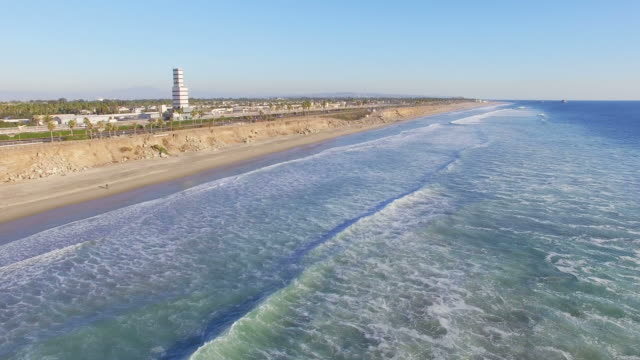 aerial view of daytime in huntington beach - huntington beach california stock videos and b-roll footage