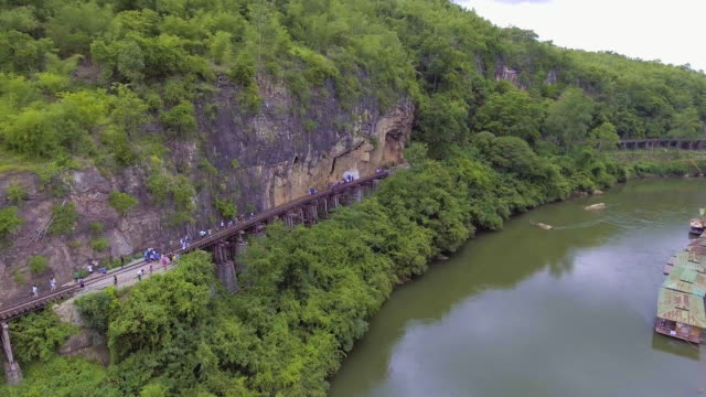 Aerial View of Death Railway and River
