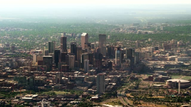 aerial view of denver - colorado stock videos & royalty-free footage