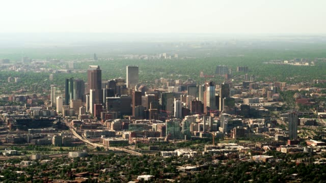 aerial view of denver - denver stock videos and b-roll footage