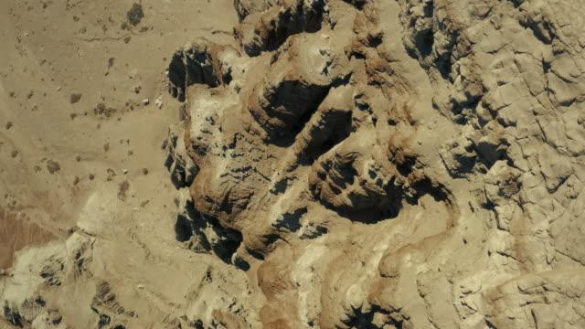 Aerial view of desert and Trona Pinnacles
