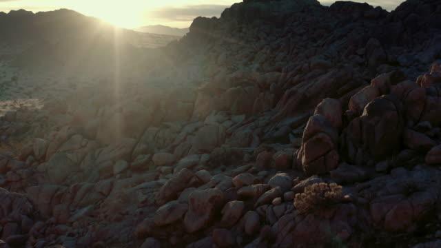 aerial view of desert in mojave - pinnacle stock videos & royalty-free footage