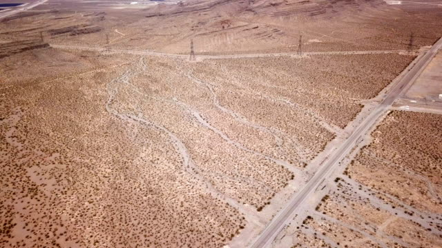 4k aerial view of desert landscape near las vegas - nevada stock videos & royalty-free footage