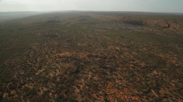 aerial view of desert landscape, outback, nt - northern territory australia stock videos & royalty-free footage