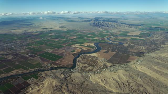 Aerial View Of Desert Towns In Sonoran Desert