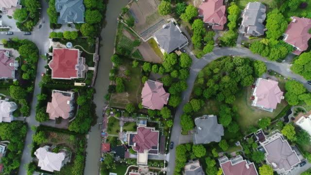 Luftaufnahme von Einfamilienhäusern duplex