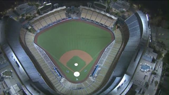 KTLA Aerial View of Dodger Stadium