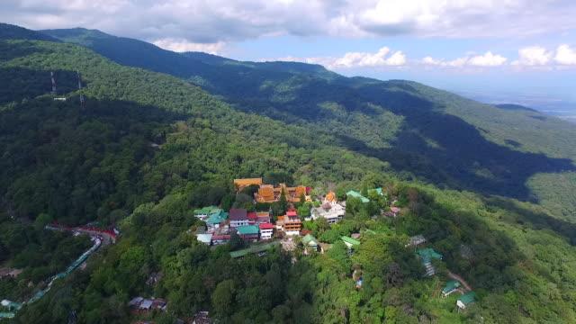 Aerial view of Doi Suthep Pui National Park and Doi Suthep Temple