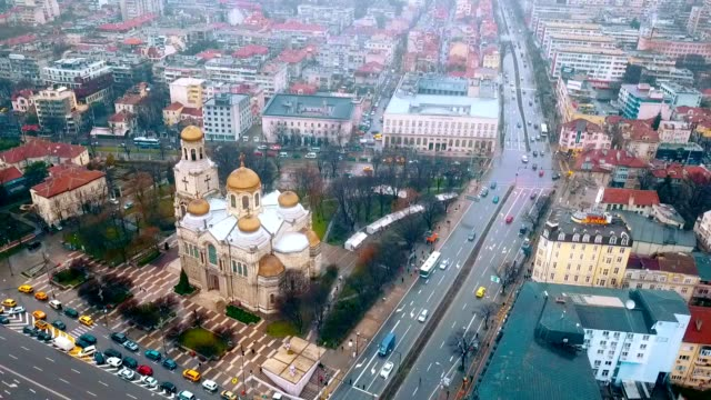 Aerial View of Dormition of the Mother of God Cathedral / Varna - Bulgaria