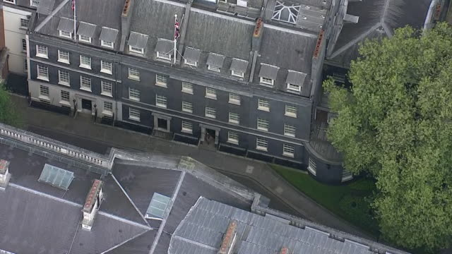 aerial view of downing street - less than 10 seconds stock videos & royalty-free footage