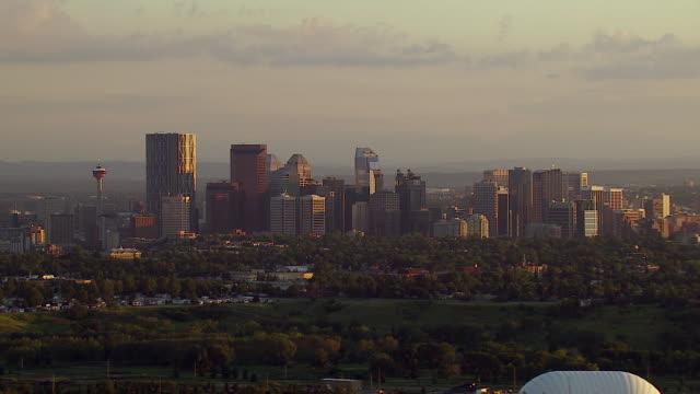 Aerial View Of Downtown Calgary Alberta