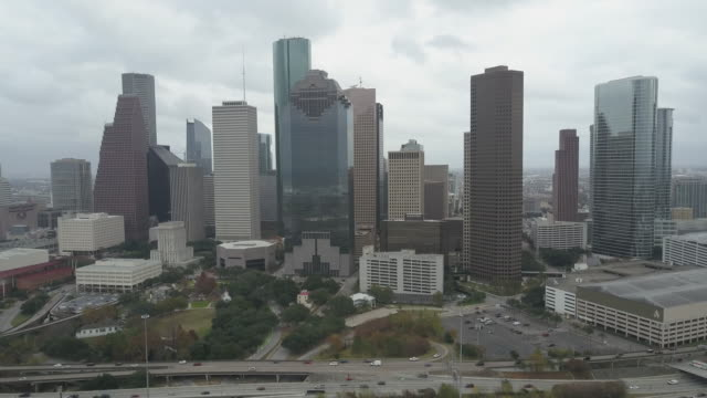 aerial view of downtown houston, texas. - b roll stock videos & royalty-free footage