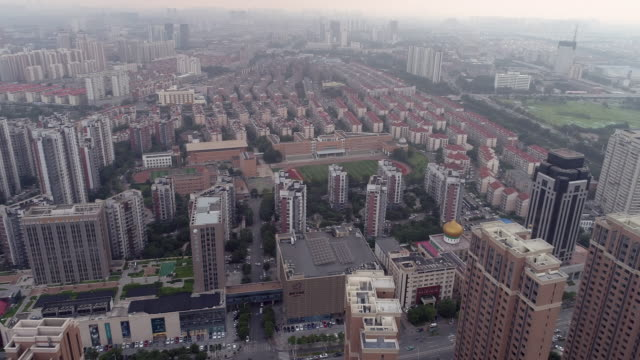 aerial view of downtown in tianjin - liyao xie stock videos & royalty-free footage