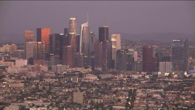 KTLA Aerial View of Downtown Los Angeles