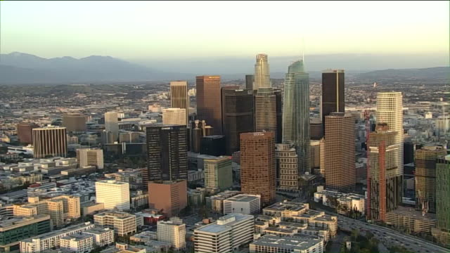 aerial view of downtown los angeles. - downtown stock videos & royalty-free footage