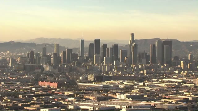 KTLA Aerial View of Downtown Los Angeles