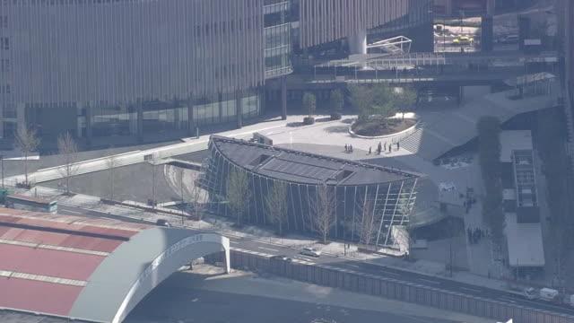 aerial view of downtown osaka - 大阪駅点の映像素材/bロール