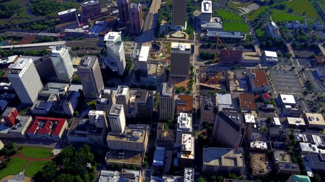 aerial view of downtown richmond - richmond virginia stock videos & royalty-free footage