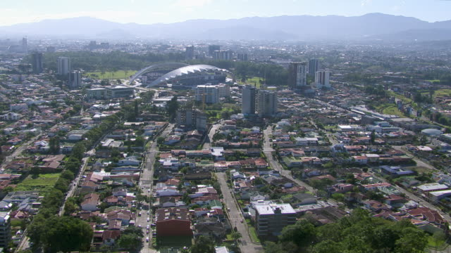 aerial view of downtown san jose, costa rica - san jose costa rica stock videos & royalty-free footage