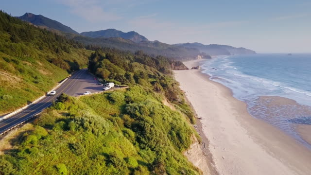 Aerial View of Dramatic Oregon Coastline