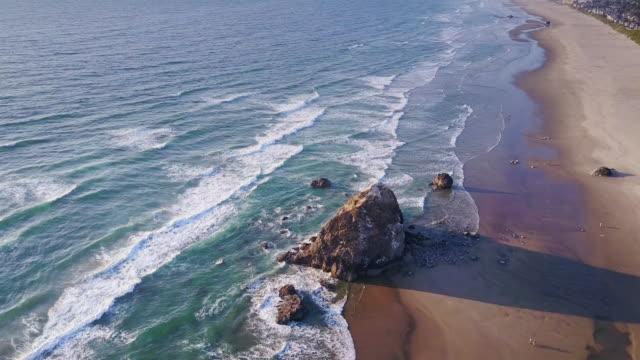 Aerial View of Dramatic Oregon Coastline
