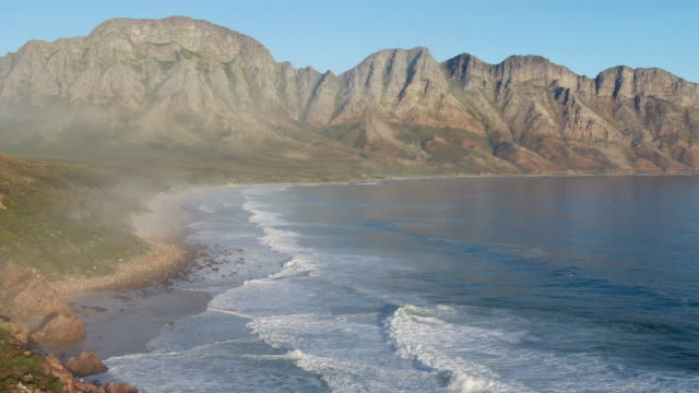 aerial view of dramatic south african coastline - cape town stock videos & royalty-free footage