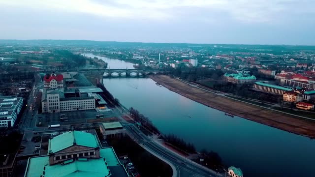 aerial view of dresden - germany - dresden germany stock videos & royalty-free footage