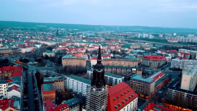 luftaufnahme von dresden - deutschland - panorama stock-videos und b-roll-filmmaterial