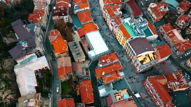 vidéos et rushes de vue aérienne de la mosquée de dzhumaya / plovdiv - bulgarie - culture de l'europe de l'est
