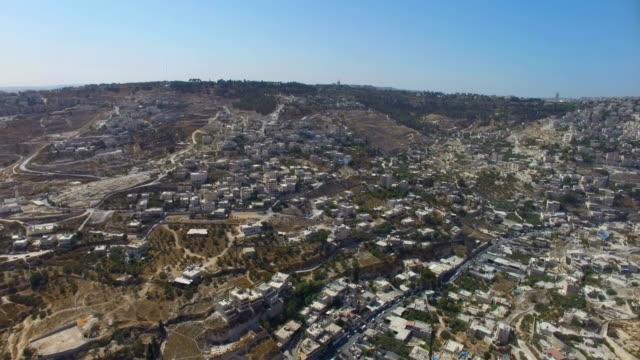 Aerial view of East Jerusalem-Arab settlements in the West Bank- Eizariya, Jahalin, Abu Dis, ALSHAYKH, WADI QADUM, ALTUR