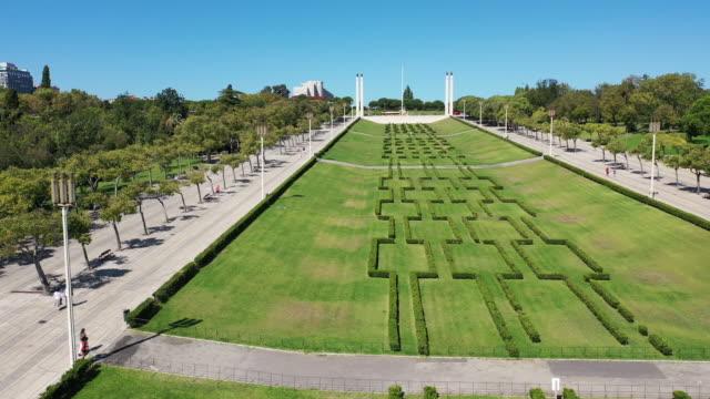 aerial view of eduardo vii park - grounds stock videos & royalty-free footage