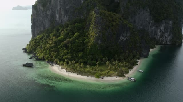 vídeos y material grabado en eventos de stock de aerial view of el nido palawan - beauty in nature