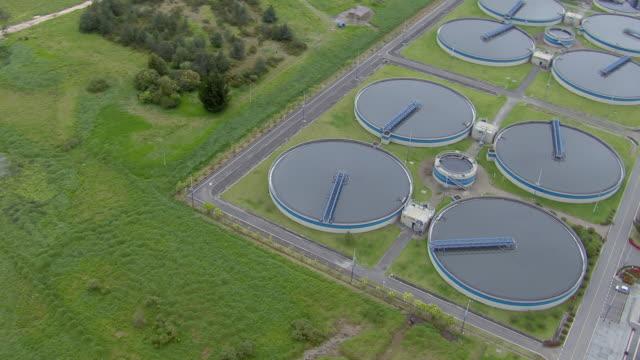 vidéos et rushes de aerial view of el salitre wastewater treatment plant in bogota, colombia - écosystème