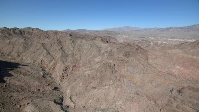 aerial view of eldorado mountains in black canyon wilderness, nevada. - black canyon stock videos & royalty-free footage
