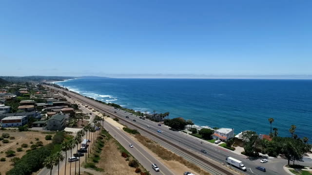 aerial view of encinitas - route 001 stock videos & royalty-free footage