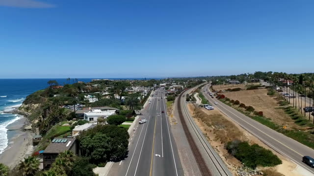 aerial view of encinitas - san diego stock videos & royalty-free footage