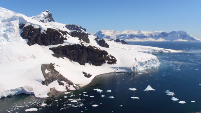 aerial view of errera channel, antarctica - ice floe stock videos & royalty-free footage