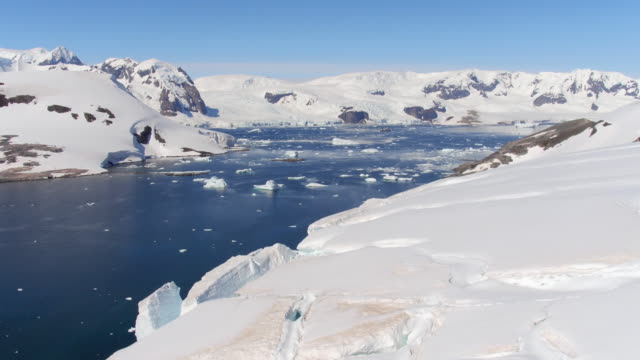 Aerial View of Errera Channel, Antarctica