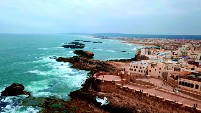 aerial view of essaouira - morocco - history stock videos & royalty-free footage