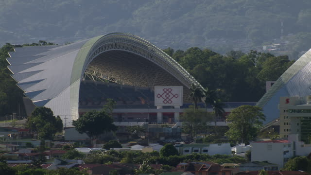 aerial view of estadio nacional de costa rica stadium in san jose, costa rica - costa rica stock videos & royalty-free footage