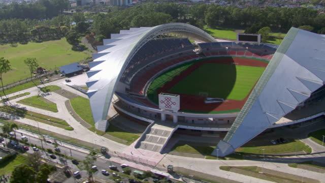 aerial view of estadio nacional de costa rica stadium in san jose, costa rica - san jose costa rica stock videos & royalty-free footage