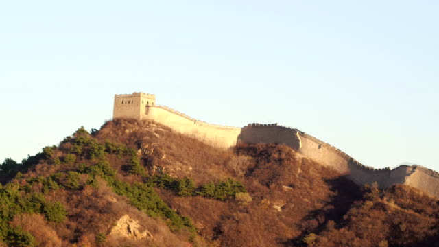 aerial view of famous badaling great wall - badaling great wall stock videos & royalty-free footage