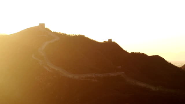 Aerial View of Famous Badaling Great Wall