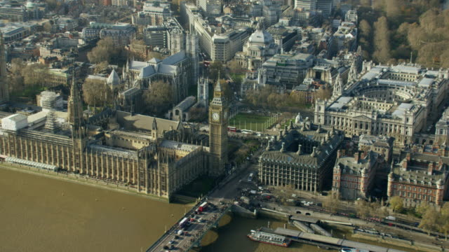 aerial view of famous tourism sights in london - global politics stock videos & royalty-free footage