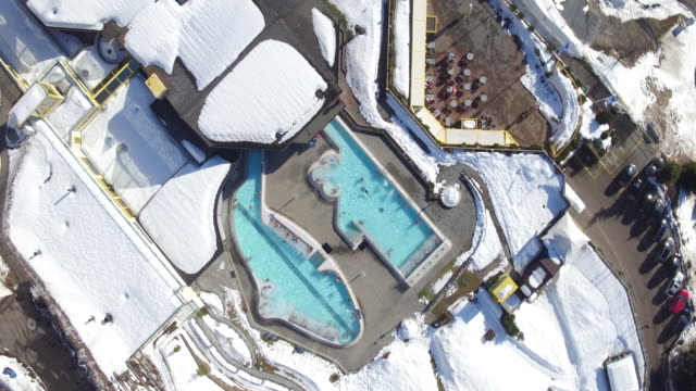 Aerial view of famous tourist village Ovronnaz