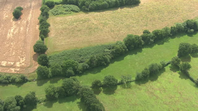 aerial view of farm in kent on 21th july 2017 in kent, united kingdom - nature stock videos & royalty-free footage